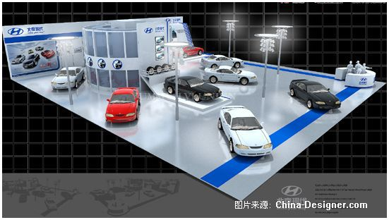 汽车展位展示厅设计设计展览展示效果图